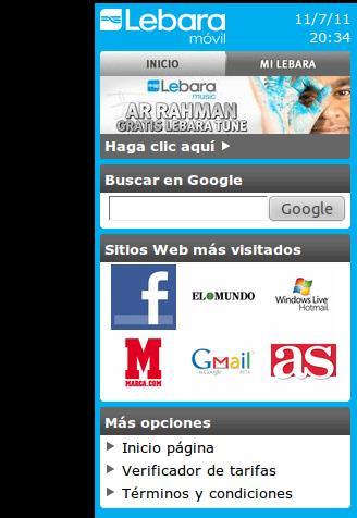 Lebara Móvil, portal de contenidos gratis