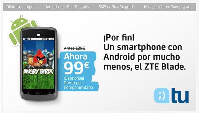 Móvil android libre Tuenti ZTE Libre