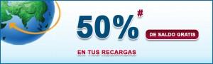 50% en llamadas extra gratis