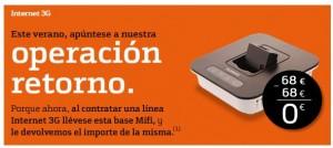 Base mifi gratis con el internet móvil de Bankinter