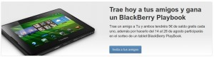 Invita a tus amigos de Tu y gana BlackBerry Playbook