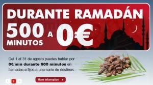 Llamadas a 0 céntimos/minuto por el ramadán