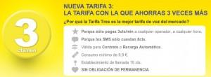 Tarifa de 3 céntimos/minuto de MÁSmovil nueva