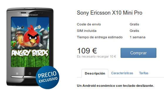 Sony Ericsson xperia x10 mini pro libre
