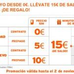 Promoción Halloween de Simyo, hasta 15 euros de saldo y 500 minutos gratis