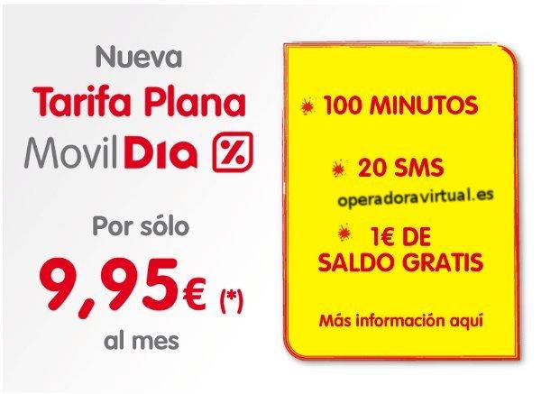 Nueva tarifa plana de MovilDIA