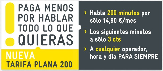 Nueva tarifa plana 200 de MÁSmovil