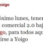 Twitter para ayudarte en la portabilidad a Yoigo