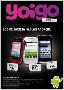 Revista de Yoigo noviembre del 2011