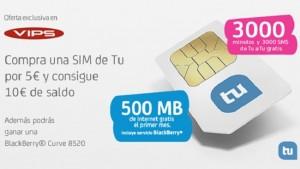 Tarjeta SIM de Tu (Tuenti móvil) en VIPS