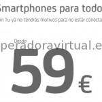 Móviles baratos, Android desde 59 euros en prepago, pero bloqueados con Tu
