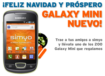 Samsung Galaxy Mini gratis de Simyo