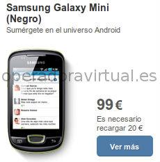 Samsung Galaxy Mini en prepago barato con Tu