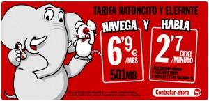 Tarifa Ratoncito y Elefante de Pepephone