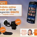 Compra un Sony-Ericsson Xperia Neo V con Euskaltel y llévate el kit de Navegación gratis para el coche