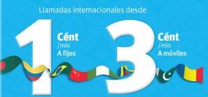 Llamadas internacionales a 3 céntimos/minuto a móviles internacionales