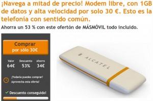 Módem USB barato libre de 1 giga de internet móvil