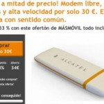 Módem USB libre y 1 Giga por 30 euros con cupón y MÁSmovil