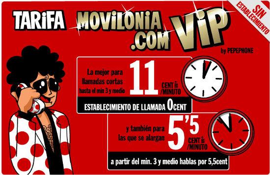 Tarifa Movilonia VIP remodelada