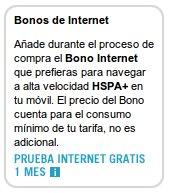 Bonos de internet móvil de Yoigo