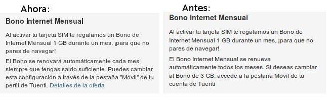 Bono de internet móvil no es obligatorio