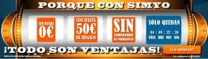 Simyo, 50 euros de saldo gratis