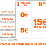 15 euros de saldo y hasta 200 minutos de llamadas con Simyo