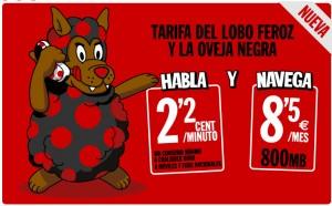 Tarifa Lobo Feroz oveja negra de Pepephone