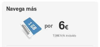 Bonos de 1 GB desde 6 euros