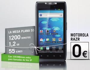 Precios Motorola Razr marzo 2012