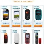 """Catálogo de móviles """"Invita a un amigo"""" de Simyo"""