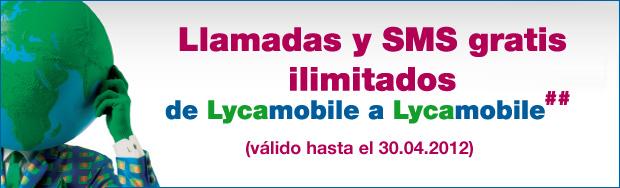 Llamadas y SMS gratis con Lycamobile en España