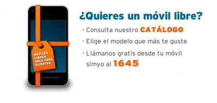 Móviles libres para clientes de Simyo, gastos envío gratis