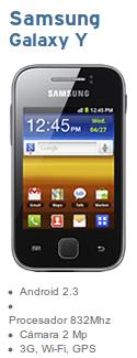 Samsung Galaxy Y de Simyo libre