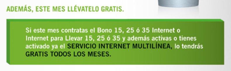 Servicio internet multilínea de Yoigo con bono gratis