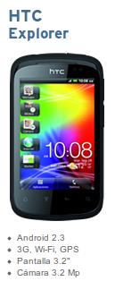 HTC Explorer con Simyo libre por 102 euros