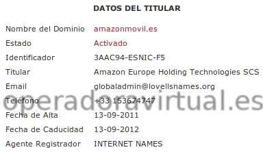 Posible web/dominio de Amazon OMV España