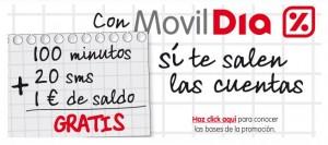 Movildia recargas minutos SMS gratis