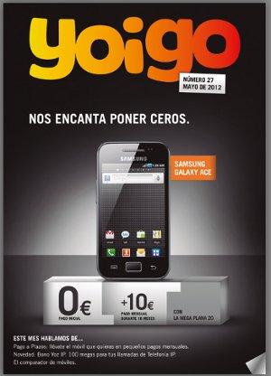 Fin de la subvención de teléfonos móviles en la revista Yoigo mayo 2012