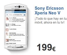 Sony Ericsson Xperia Neo V (5) no es libre con Tuenti Móvil