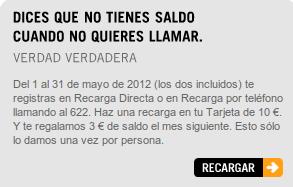 Yoigo promo recarga de mayo del 2012