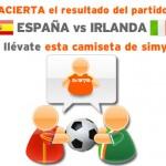 Porra de la Eurocopa España-Irlanda, gana una camiseta de Simyo