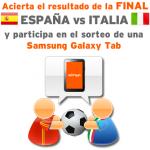 Gana una tablet Samsung Galaxy Tab libre con la porra de Simyo, del España-Italia