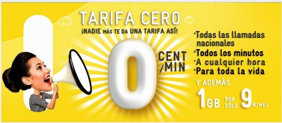Tarifa MÁSmovil a 0 céntimos/minuto, precio por minuto gratis