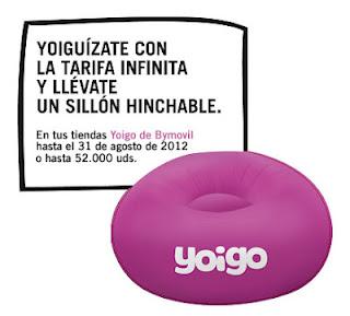 Yoigo, tarifa infinita con sillón playero gratis
