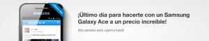 Samsung Galaxy Ace último día con Tuenti Móvil