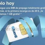 Solo hoy consigue una tarjeta SIM prepago de Tuenti gratis y 1 GB de datos