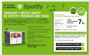 Spotify premium gratis con Yoigo