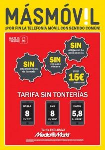 Tarifa sin tonterías de MÁSmovil y Media Markt, sin establecimiento de llamada