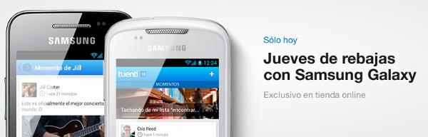 Samsung Galaxy barato en Tuenti Móvil solo hoy